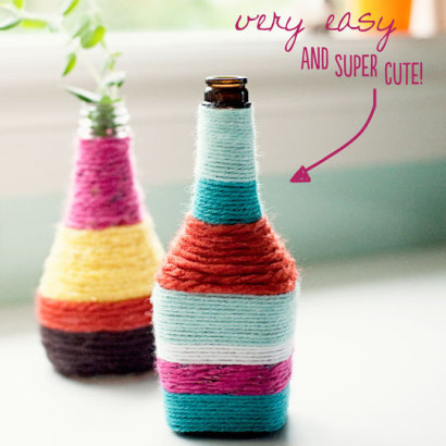 Craft Ideas Vases on Stylist Home Has A Unique Craft Idea For Making A Vase Out Of Yarn
