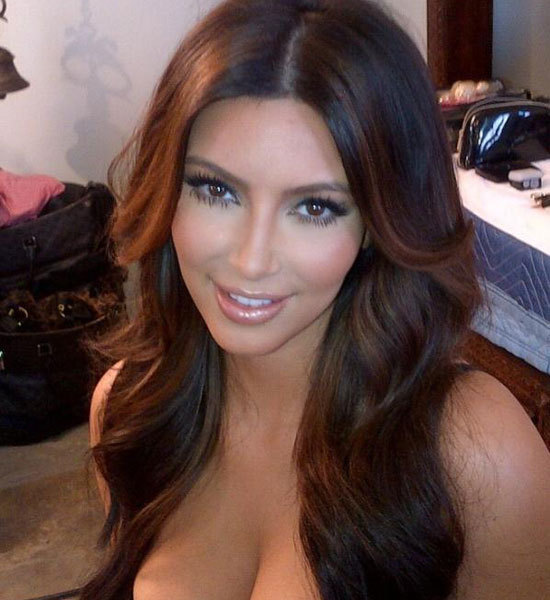 Kim Kardashian Brown Hair Color