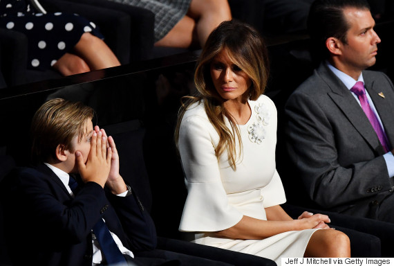 melania trump barron speech