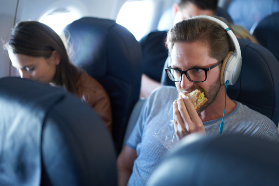 eating air plane