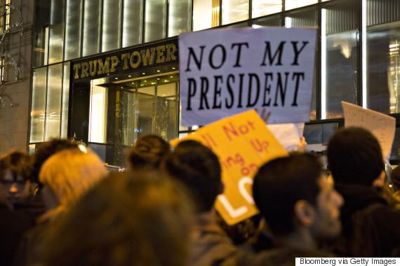 trump protest newyork