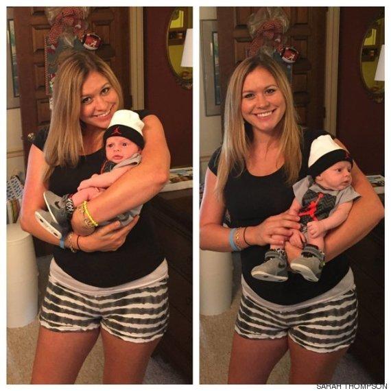 sarah e o bebe