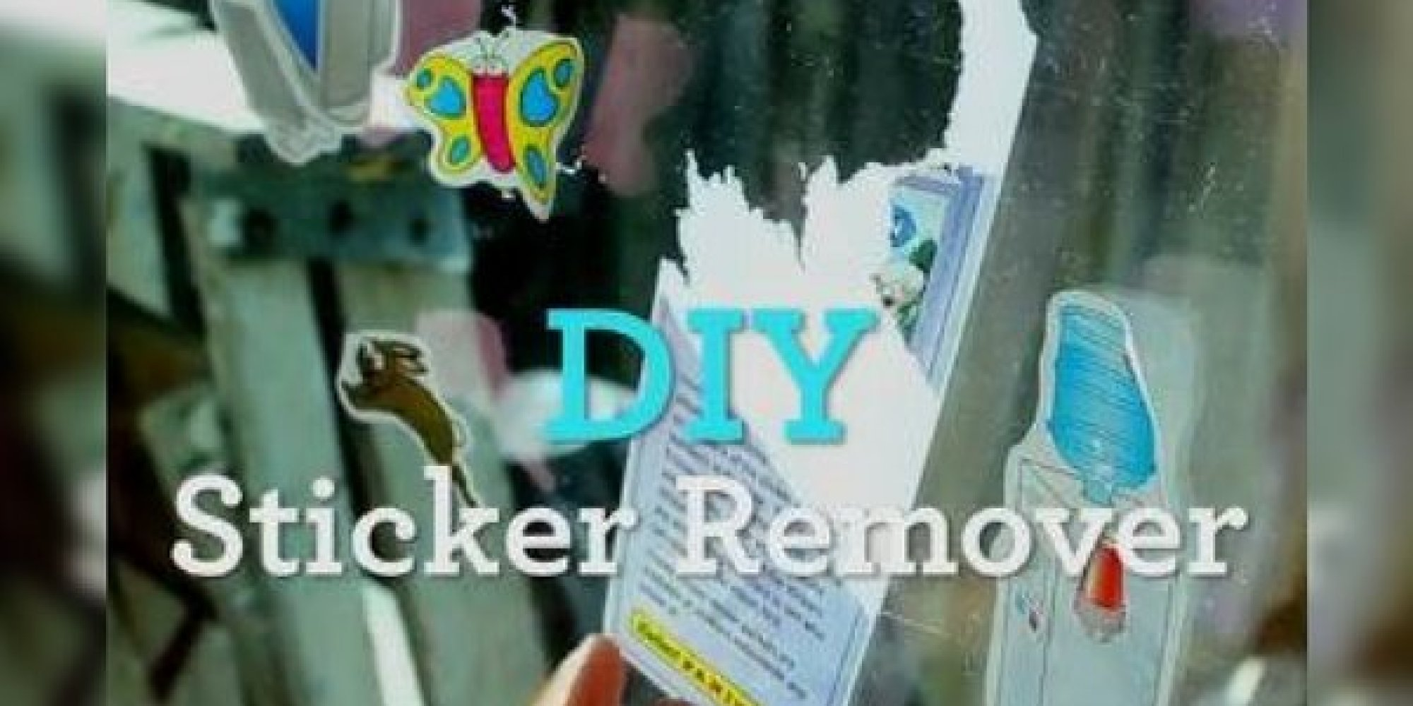how to remove stickers here 39 s an easy diy solution. Black Bedroom Furniture Sets. Home Design Ideas