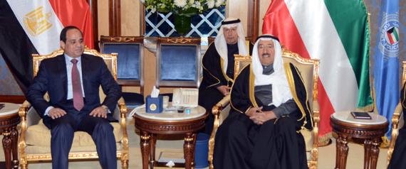EMIR OF KUWAIT EGYPTIAN PRESIDENT