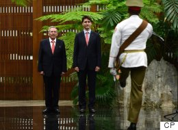 Trudeau Meets With Raul Castro In Cuba