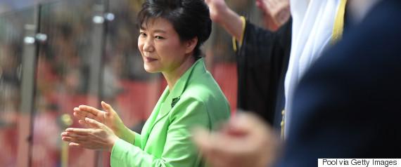 park geun hye applause