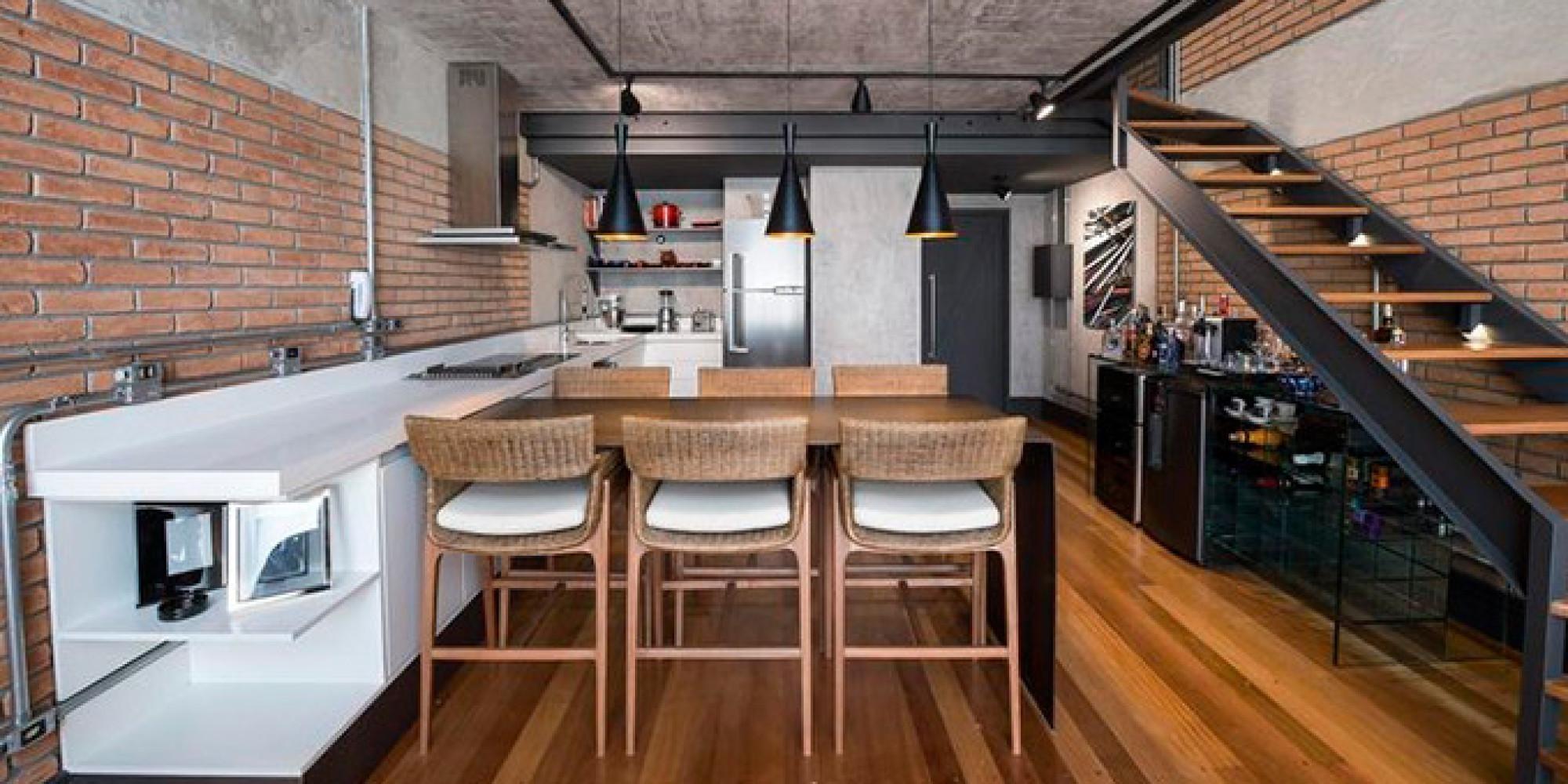 #9E602D 10 projetos de cozinhas funcionais para você se inspirar 2000x1000 px Projetos De Cozinhas Funcionais_5729 Imagens