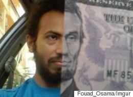 Il invente un nouveau type de selfie, avec un billet de banque