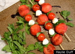 Watermelon Caprese Skewers