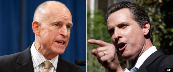Gavin Newsom Jerry Brown