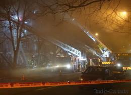 Incendie majeur à Montréal sur l'avenue De Lorimier