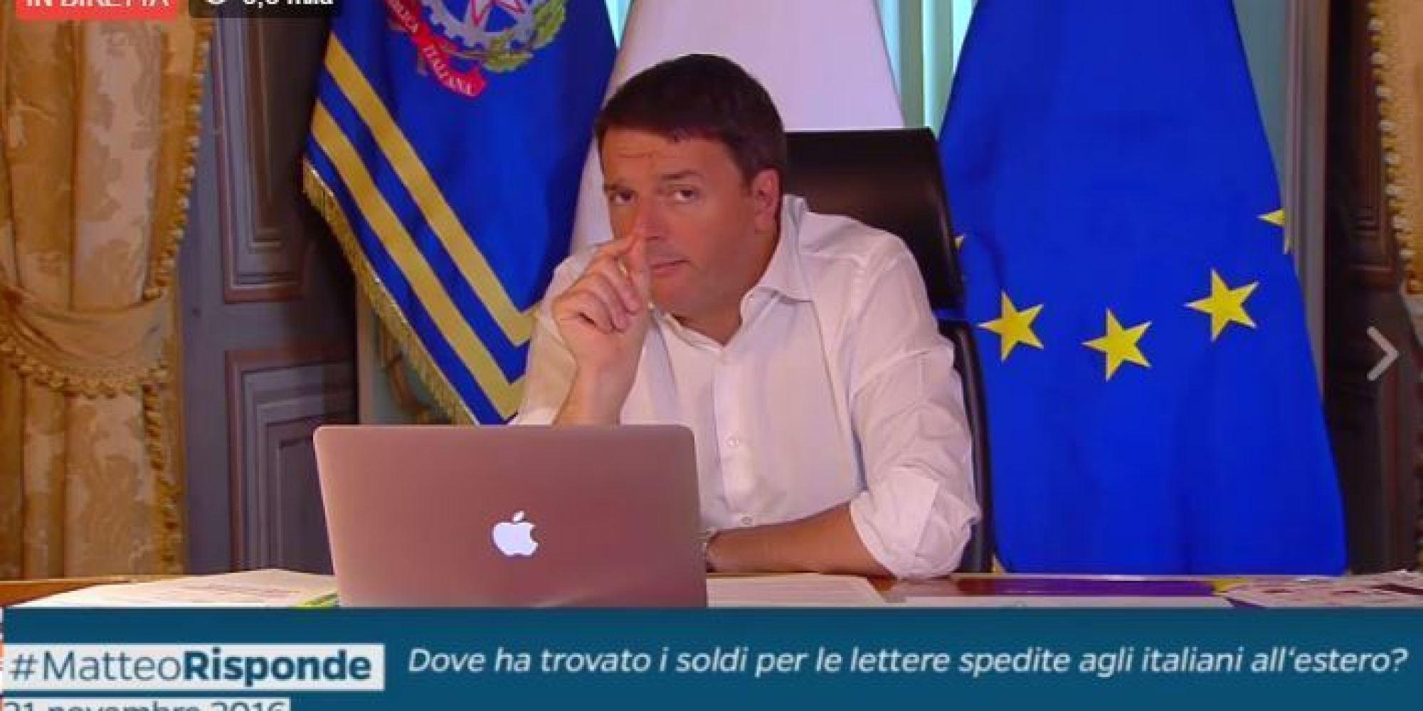 Referendum, al Matteo Risponde dietro Renzi torna la bandiera Ue ...