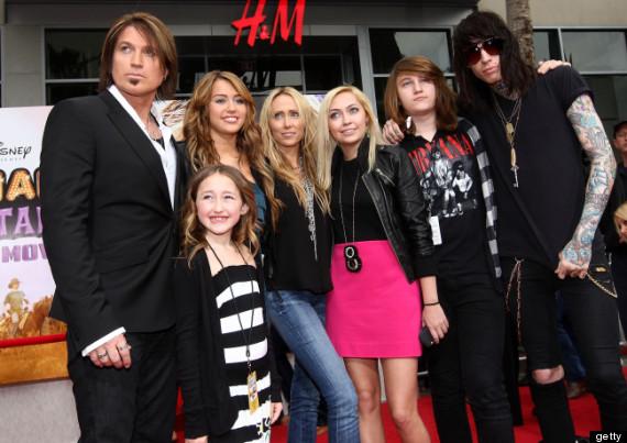 Family photo of the celebrity, dating Patrick Schwarzenegger, famous for Hannah Montana & Bangerz.