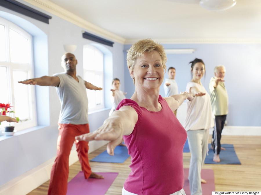 old woman yoga