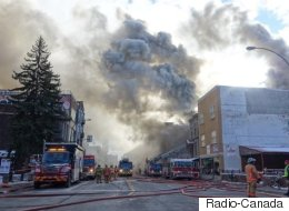 Voyez en images l'incendie d'avenue du Parc