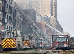 Incendie sur l'avenue du Parc à Montréal