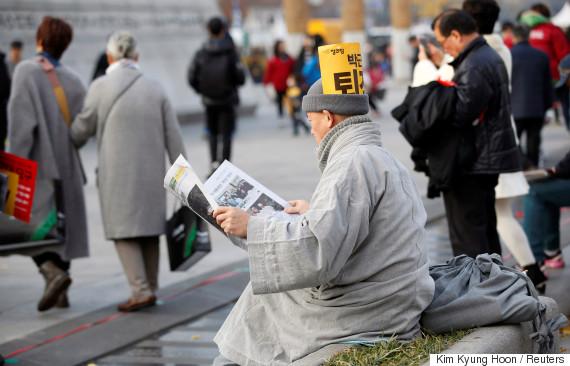 seoul protest president
