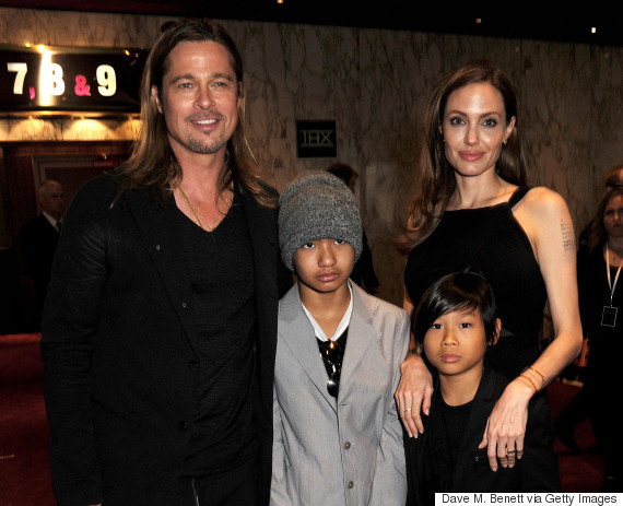brad pitt family angelina