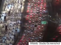 Traffic Jam On Major L.A. Freeway Is Painful To Watch