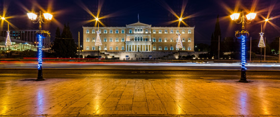 GREEK PARLIAMENT NIGHT