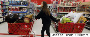 WOMAN TARGET SHOPPING CART