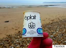 Il retrouve un yogourt des JO 1976 de Montréal sur une plage... en France
