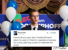 Ontario PC Leader Offers Unusual Reason For Teen Politician's Absence