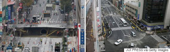 japan sinkhole
