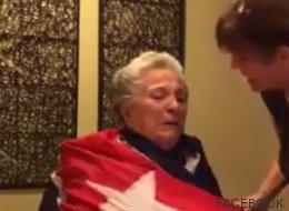 El vídeo de una anciana con alzhéimer llorando con la muerte de Castro enloquece las redes
