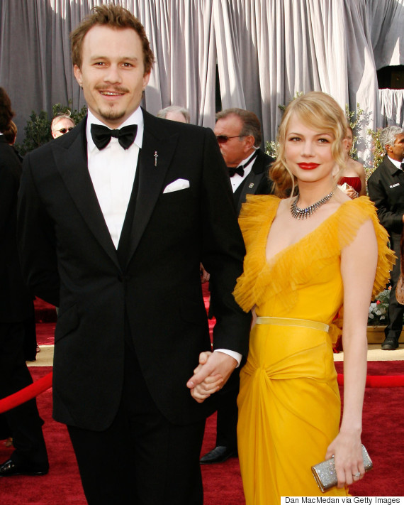 American actress Michelle Williams with her late partner Heath Ledger