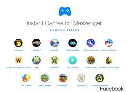Une trâlée de nouveaux jeux débarque sur Facebook Messenger