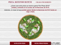 Forocoches arrasa en un concurso de los restaurantes La Tagliatella con su pizza 'Rotondo di Pene'