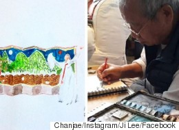 Grandfather Learns Instagram So He Can Draw For Grandkids