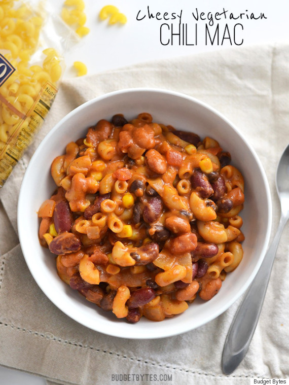 budget bytes vegetarian chili mac