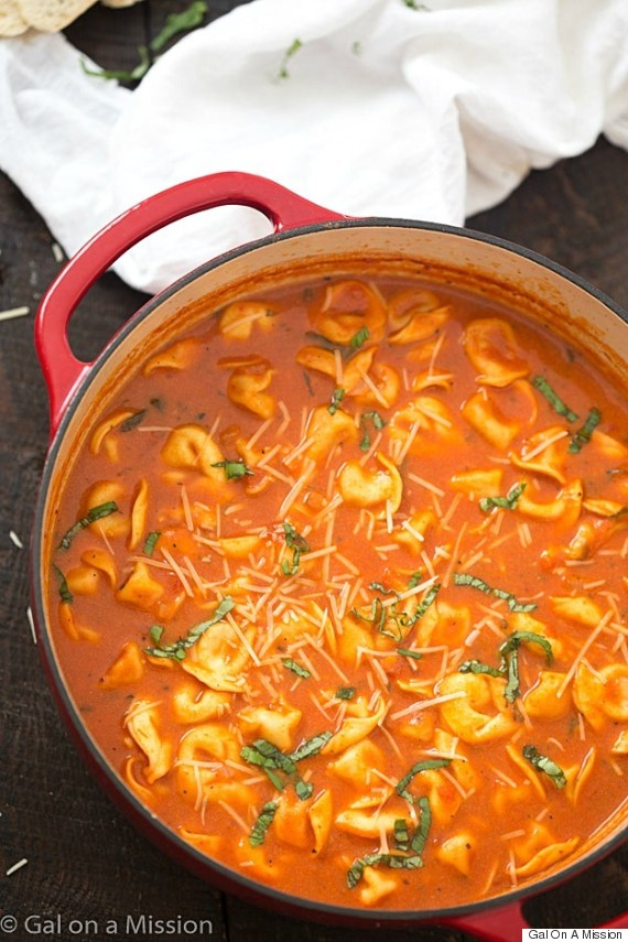 one pot tortellini soup gal on a mission