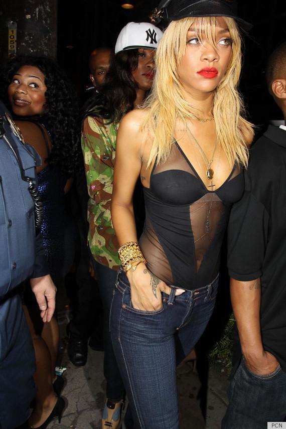 Rihanna Bodysuit Shows Off Everything Photos
