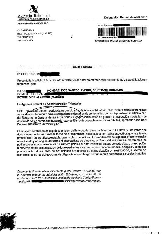 cristiano ronaldo agencia tributaria