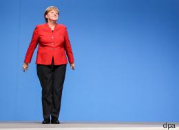 Ich, ich, ich: Am Ende ihrer Rede überrascht Merkel die Zuhörer
