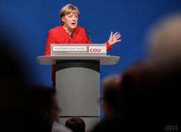 Merkel als CDU-Vorsitzende wiedergewählt