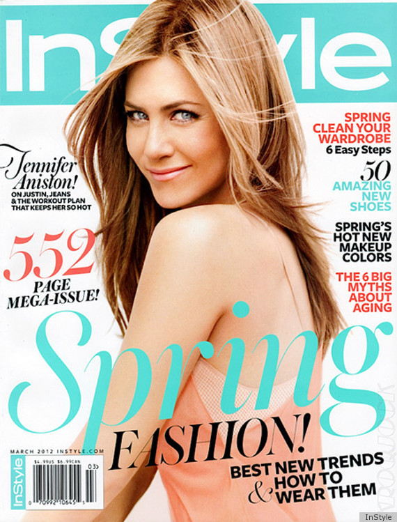 Jennifer Aniston Instyle Cover March 2012 Everyone Else Can Just Go Home Photos Huffpost