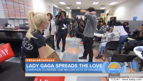 lady gaga spreads the love