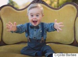 다운증후군을 가진 꼬마가 아동복 모델이 됐다