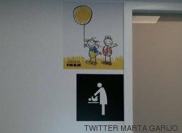 Ikea dice que cambiará su cartel de cambiador ante las acusaciones de machismo en Twitter