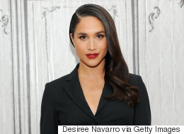 Meghan Markle Spotted In Toronto Wearing 'M And H' Necklace