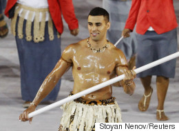 Tonga Flag-Bearer Distracts Again With His Change Of Sport