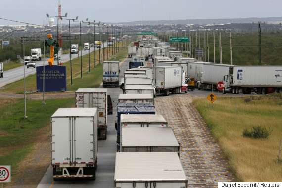 us mexico border trucks