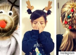Ridiculously Cute Christmas Hairstyles For Your Little Elves