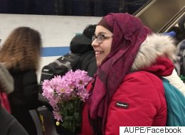 Women In Hijab Gifted Flowers At Scene Of Edmonton Hate Crime