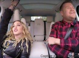 Madonna fait preuve de souplesse dans son «Carpool Karaoke»
