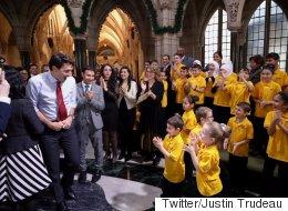 'Adorable' Syrian Refugee Children's Choir Charms Trudeau